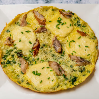 Smoked Trout and Gruyere Omelet