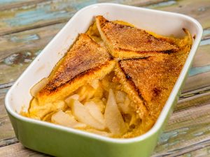 Bread and Pear Pudding