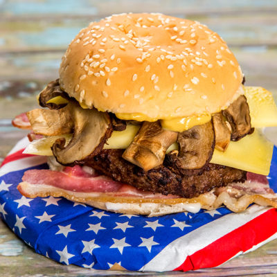 Bacon and Gruyere Burger