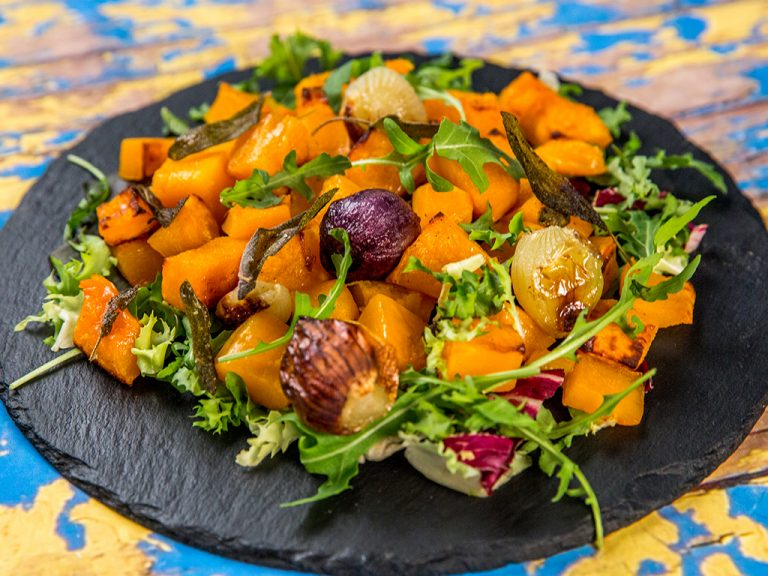 roasted butternut squash warm salad