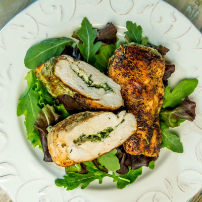 Cream Cheese and Spinach Filled Chicken Breast