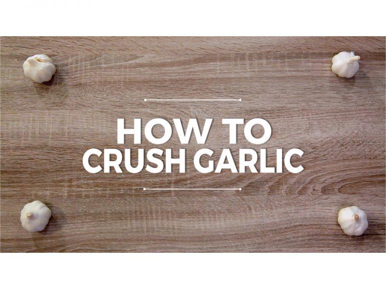 How to Crush Garlic