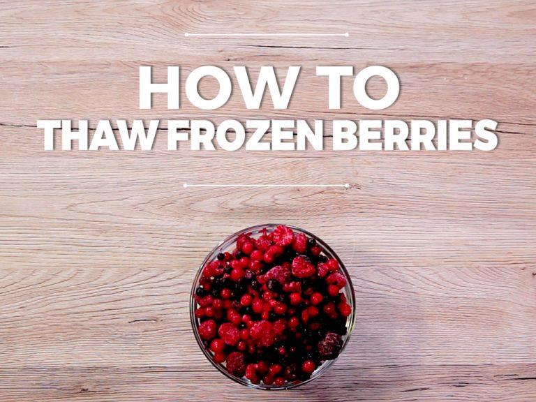 How to Thaw Frozen Berries