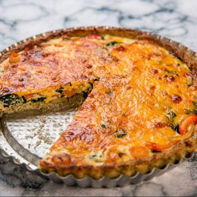 Veggie Tart with Cauliflower Crust