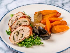 Slow Cooked Turkey Breast with Bacon