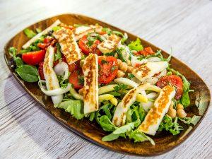 Halloumi, Chickpea and Veggie Salad