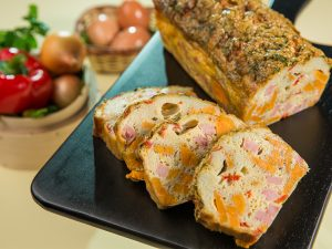 Ham and Sweet Potato Egg Loaf