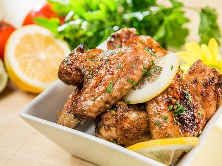 Roasted Lemon Chicken Wings