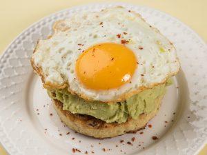 Fried Egg on Avocado Cauliflower Toast