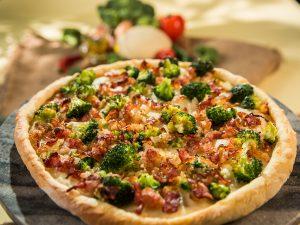 Bacon and Broccoli Pizza