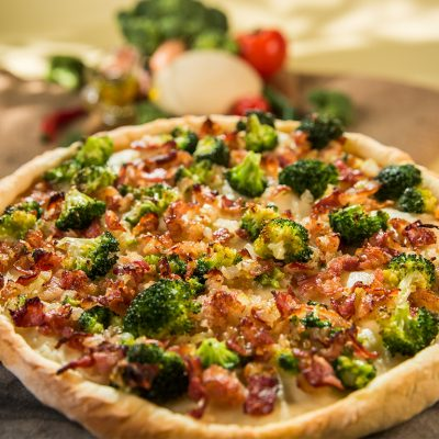 Bacon and Broccoli Pizza