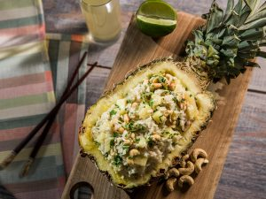 Cashew Rice Stuffed Pineapple