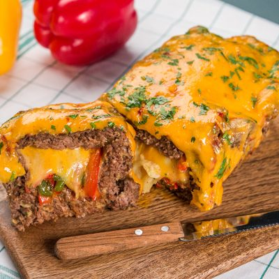 cheesy bell pepper meatloaf