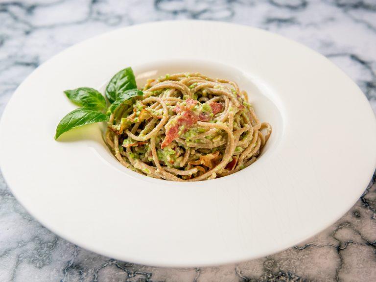 Healthier Pasta Carbonara