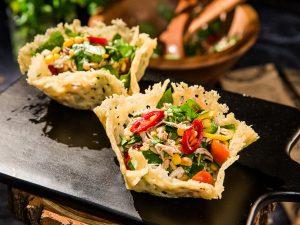 chicken salad parmesan baskets