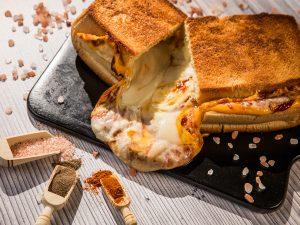 Extra-Cheesy Mayonnaise Giant Sandwich