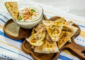 Spicy Tortilla with Tahini Sauce