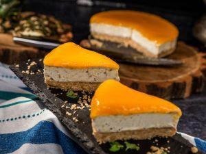 pineapple and mango no-bake cheesecake