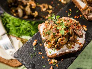 Shimeji and Lamb Sandwiches