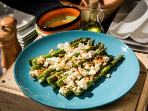 Asparagus with Goat Cheese