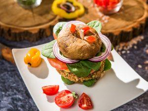 Mushroom and Quinoa Burger