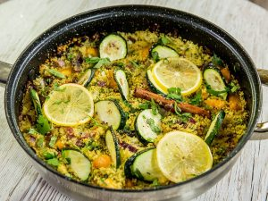 Couscous and Sweet Potato Skillet