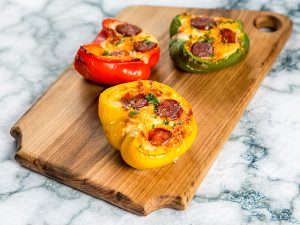 Cheesy Bell Peppers with Chorizo