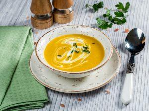 Roasted Butternut Squash and Potato Cream Soup