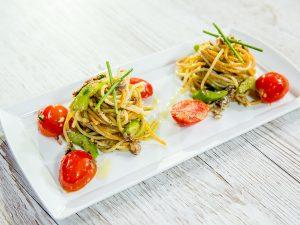 Sardine and Cherry Tomato Spaghetti